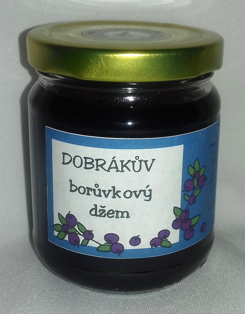Dobrákův borůvkový džem 190g