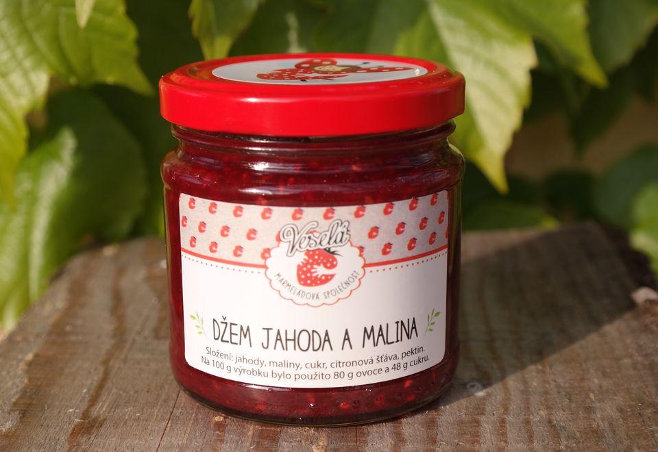 Jahodovo malinový džem