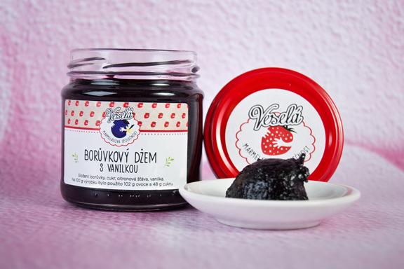 Borůvkový džem s vanilkou